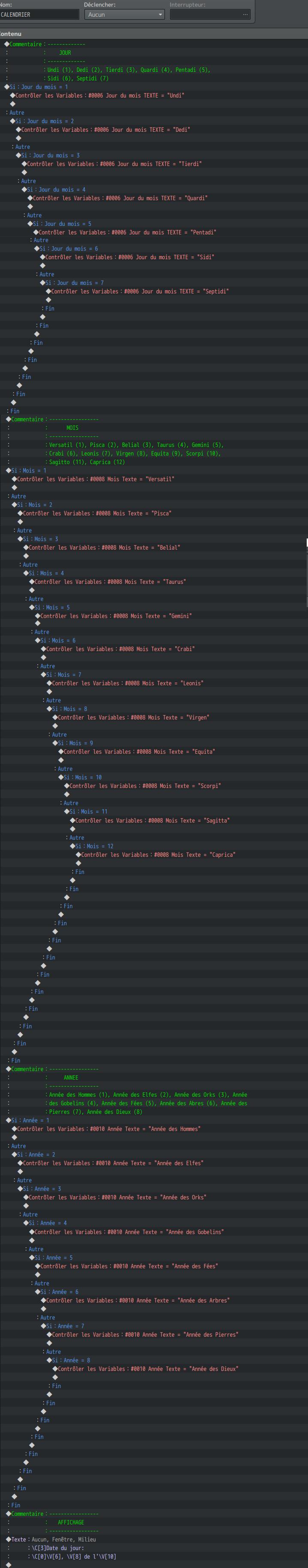 Système Craft / Calendrier EvCom1_Calendrier