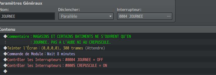 Système Craft / Calendrier EvCom5_Journee