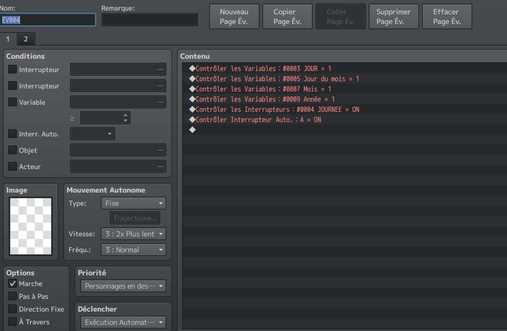 Système Craft / Calendrier EvDebutJeu