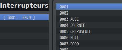 Système Craft / Calendrier Interrupteurs