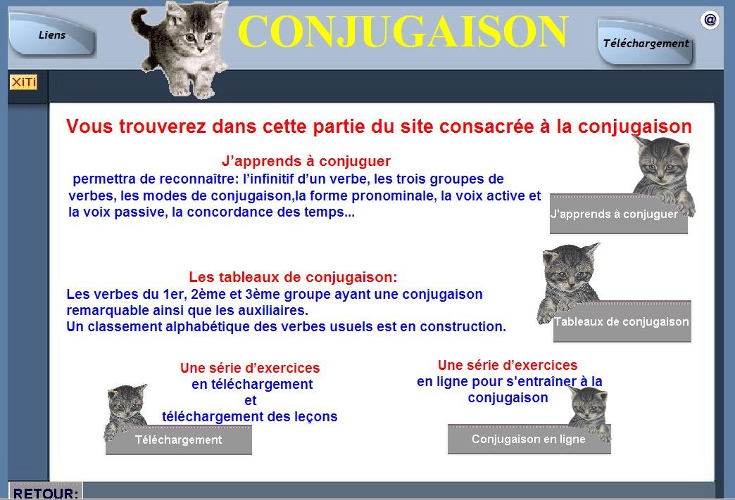 site de conjugaison