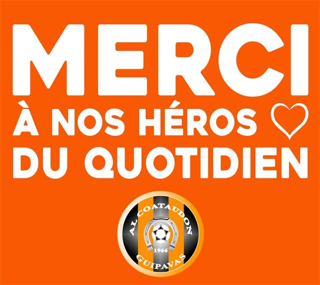 Les remerciements de l'AL Coataudon à tous ces héros du quotidien.