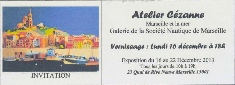exposition peinture societe nautique de Marseille - Tamara Ribes