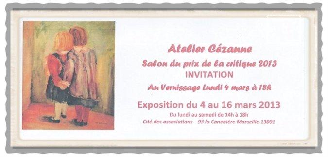 Exposition peinture Atelier Cézanne Tamara Ribes