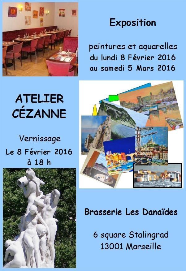 Exposition Atelier Cézane - Brasserie Les Danaïdes Marseille