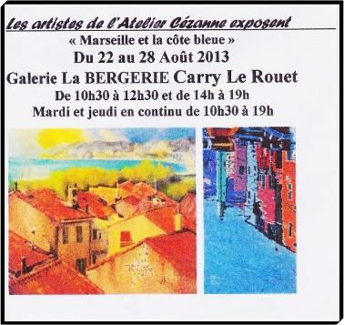 Exposition de Peinture Carry Le Rouet Tamara RIBES