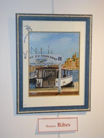 "Peinture huile ""Le Ferry-Boat """