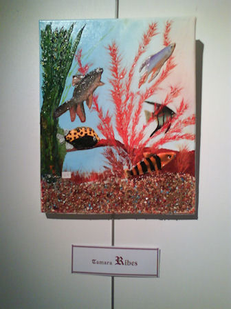 """Peinture à l'huile sur toile """"aquarium"""" Tamara ribes peintre"""