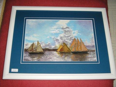 """peinture aquarelle """"Le voilier"""""""
