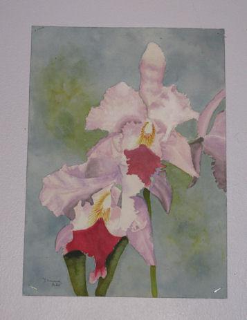 """Peinture aquarelle """"Iris"""""""