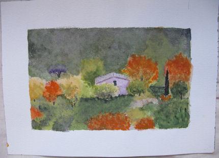 Le cabanon en automne