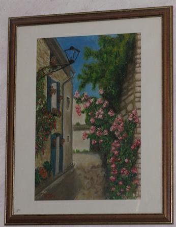 """Peinture huile """"La rue qui tourne"""" Tamara Ribes Peintre"""