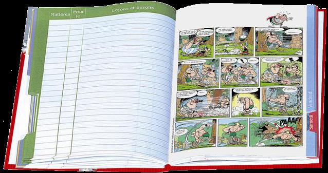 Cahier de Texte Astérix 2011 - Oberthur Livrecahier