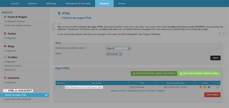 Mettre une fiche d'affiliation en html PARTHTML
