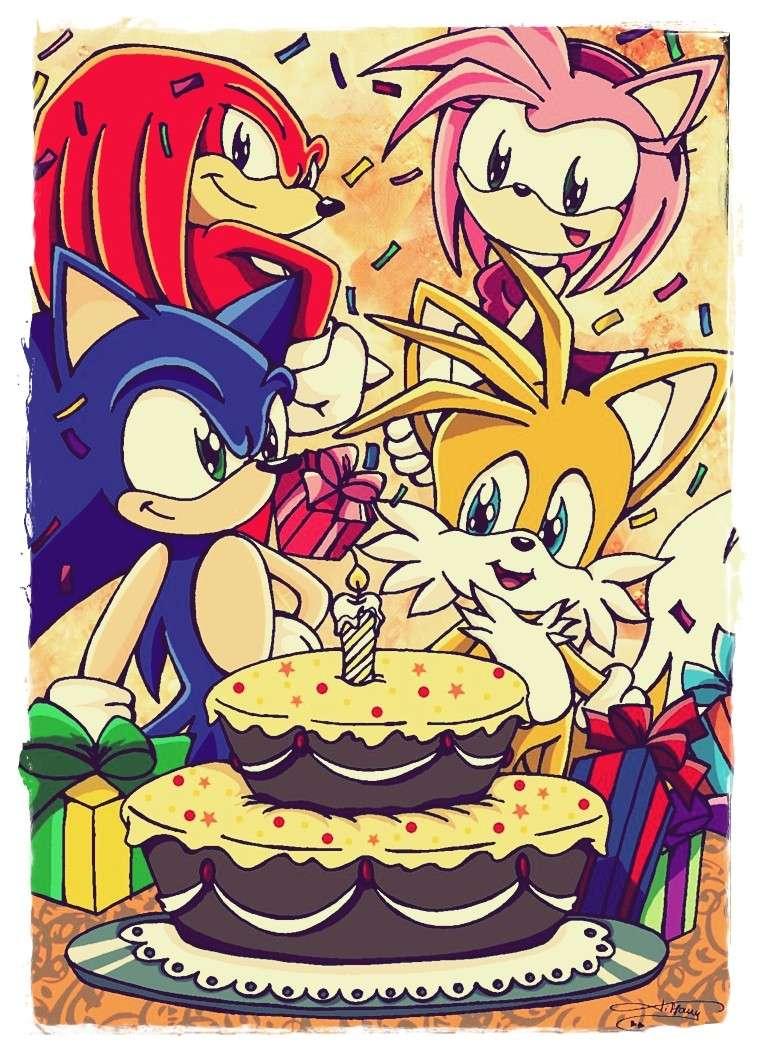 Anniversaire d'AlexiSonic [17 Novembre] Tails_Sonic_Knuckles_Amy_cake